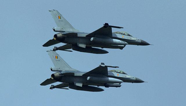 Истребители F-16 ВВС Бельгии
