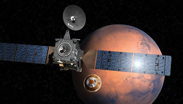 Посадочный модуль Скиапарелли отделился от основного орбитального блока Трейс Гас Орбитер