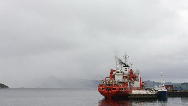 Научно-экспедиционное судно Академик Федоров в Норвегии. Архивное фото