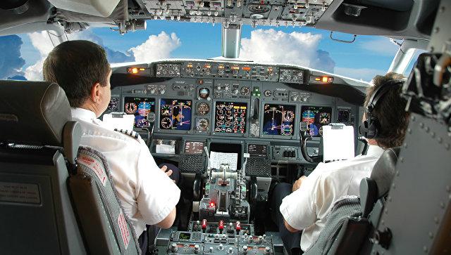Кабина пилотов самолета Boeing