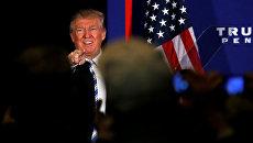 Дональд Трамп выступает перед избирателями в Геттисберге, 22 октября 2016