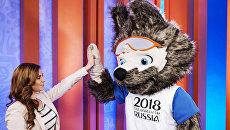 Дизайнер официального талисмана чемпионата мира по футболу 2018 года Екатерина Бочарова на презентации талисмана в программе Вечерний Ургант