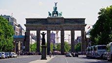 Вид на Бранденбургские ворота с западной стороны. Архивное фото