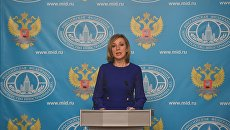 Официальный представитель МИД России Мария Захарова во время брифинга по текущим вопросам внешней политики. 27 октября 2016