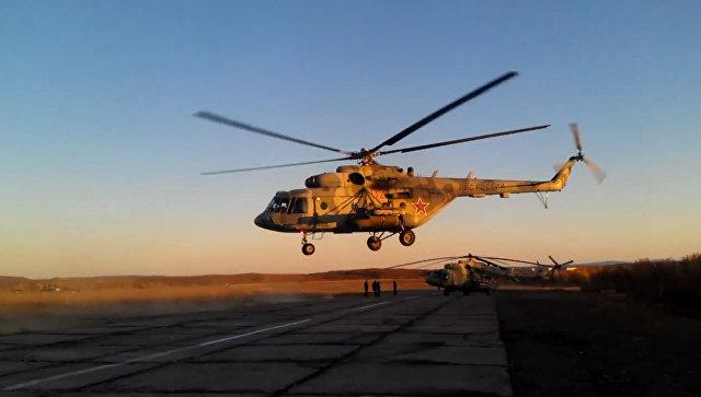 Боевые вертолеты России в действии. Видео Минобороны ко Дню армейской авиации