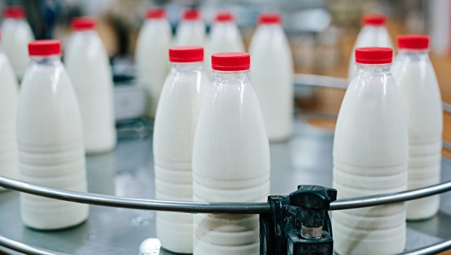 Молочная продукция на производстве. Архивное фото