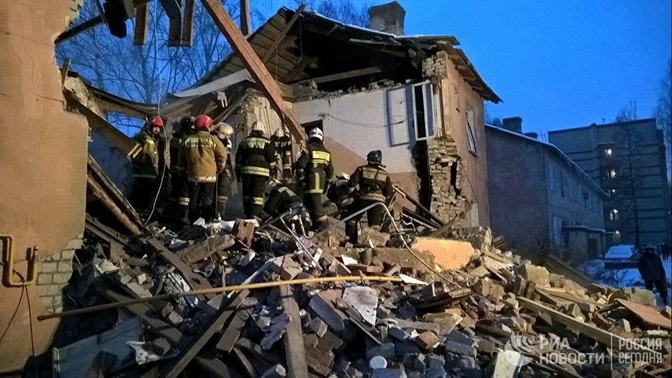 Последствия взрыва газа в жилом доме в Иваново