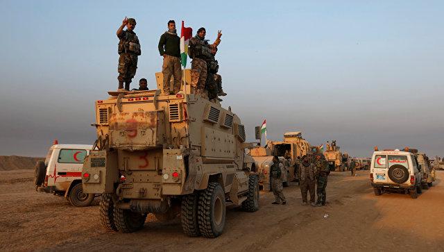 Курды начали наступление нагород Баашика насевере Ирака