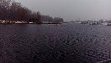 Место аварийной посадки самолета Як-52 на реке Татьянке в Самаре. 7 ноября 2016