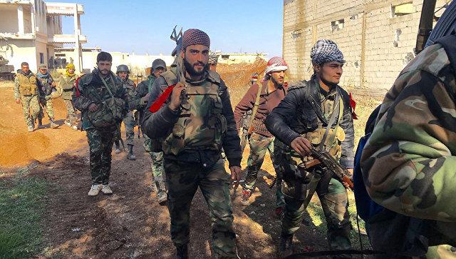 Солдаты сирийской армии в провинции Дераа