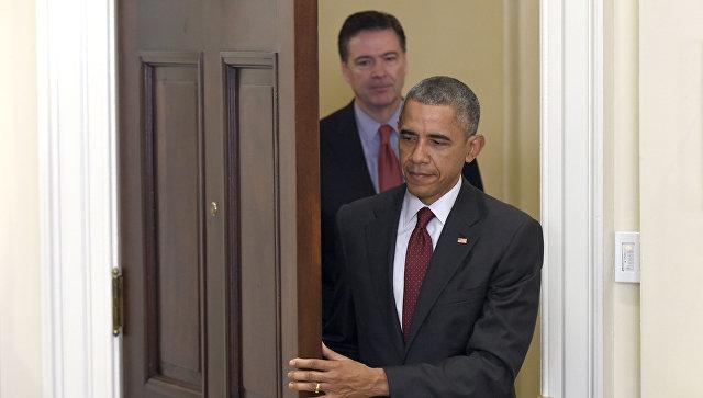 Президент США Барак Обама и директор ФБР США Джеймс Коми. 25 ноября 2015 года