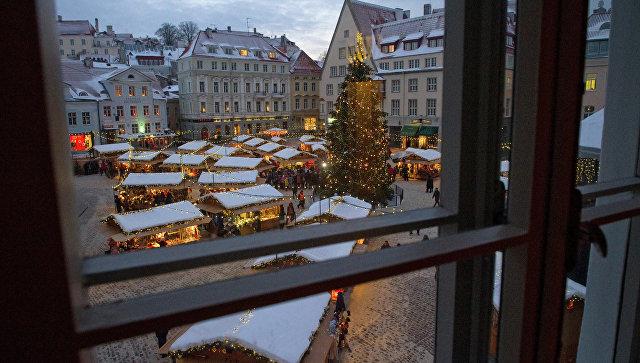 ТаРождественский базар на Ратушной площади Таллина