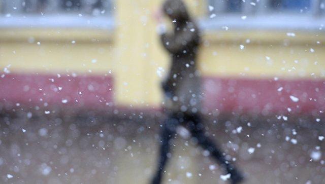 Мокрый снег в Москве. Архивное фото