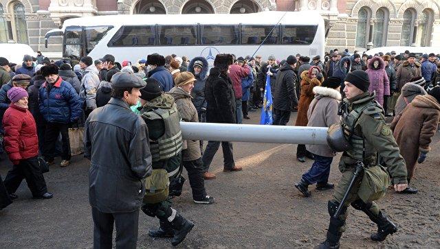 Вцентре украинской столицы снова собирают людей наакции протеста— Шатун