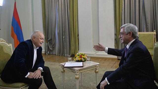 Интервью президента Армении Сержа Саргсяна