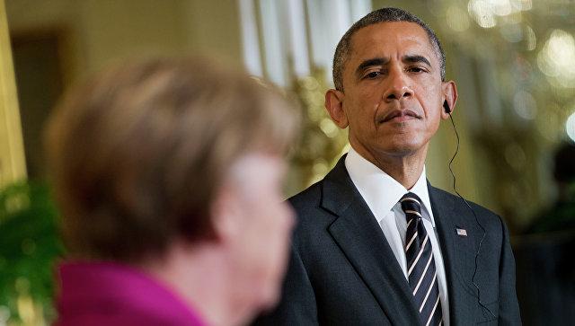 Обама прилетел вБерлин, где проведет переговоры сМеркель
