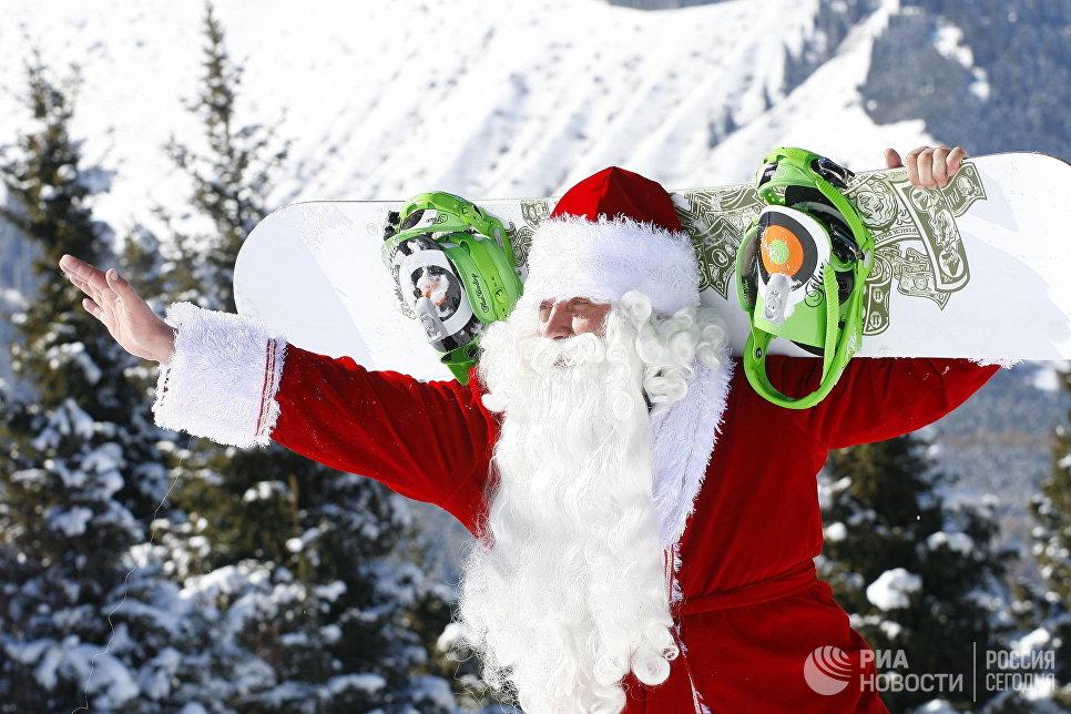 Участник II Международного Зимнего Фестиваля Санта Клауса и его друзей на горнолыжной базе Каракол
