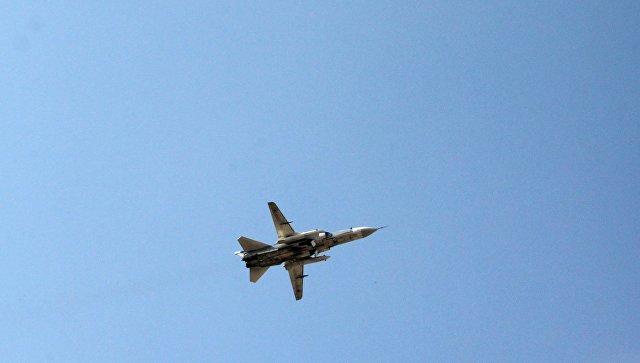 Российский фронтовой бомбардировщик Су-24, архивное фото