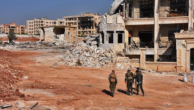 Военнослужащие сирийской армии в Алеппо