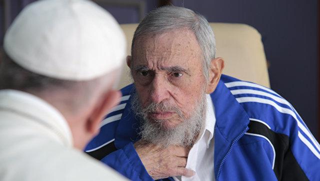 Встреча Папы Римского Франциска и Фиделя Кастро в Гаване. Архивное фото