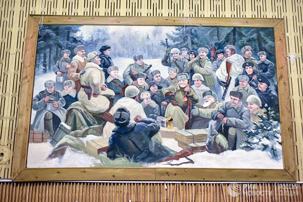 Картина в актовом зале киностудии Союзмультфильм