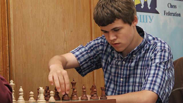 Магнус Карлсен на турнире Форос-2008 в Ялте
