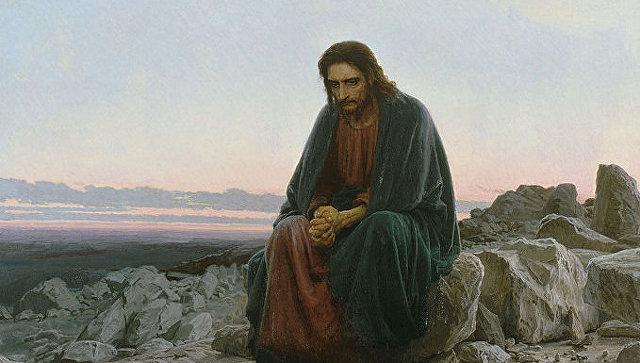 Иван Крамской, Христос в пустыне, 1872
