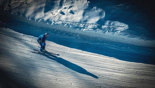 Лыжник на трассе. Архивное фото