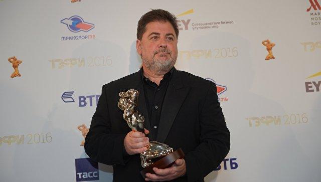 Лауреат российской телевизионной премии ТЭФИ 2016 в номинации Лучший телевизионный продюсер сезона продюсер, телеведущий Александр Цекало. Архив