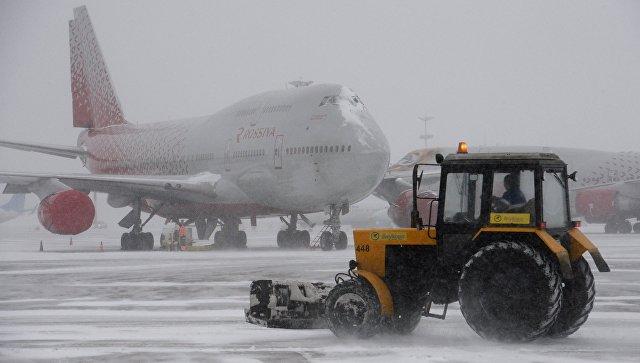 Ваэропортах столицы отменили неменее 55 рейсов