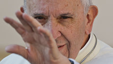 Папа римский Франциск в Ватикане. Архивное фото