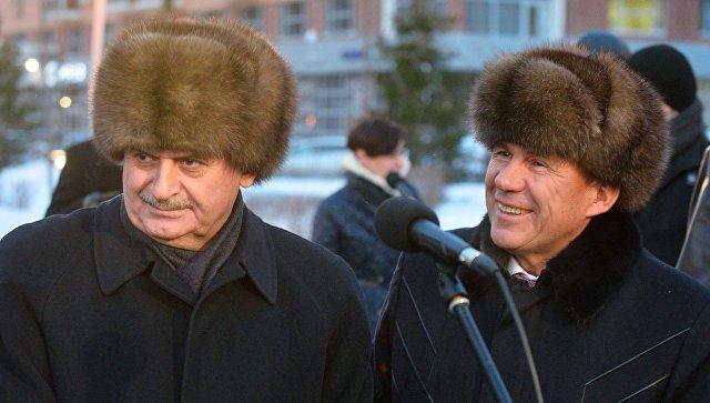 Премьер-министр Турецкой Республики Бинали Йылдырым и президент Республики Татарстан Рустам Минниханов в Казани. 7 декабря 2016