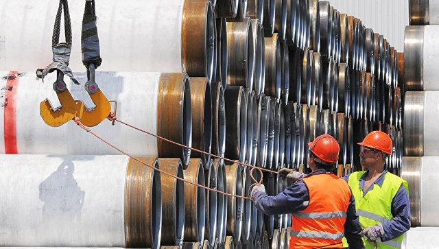 Трубы для строительства морского газопровода Южный поток. Архивное фото