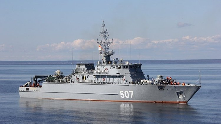 Накорабле противоминной обороны «Александр Обухов» будет поднят Андреевский флаг