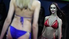Участница выступает в финале Всероссийского конкурса Топ Модель России-2016 в Korston Club Hotel в Москве