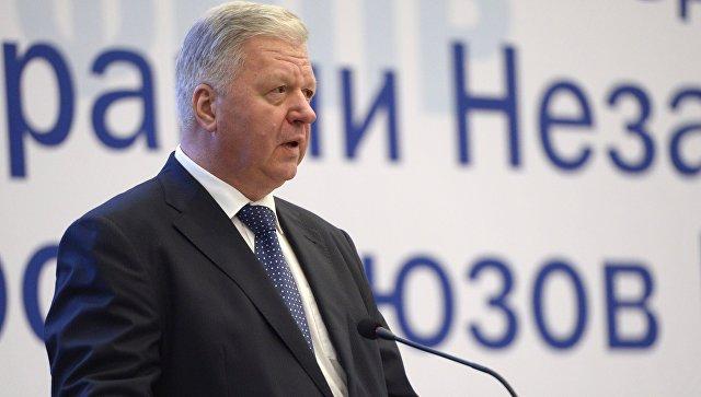 Председатель Федерации независимых профсоюзов РФ Михаил Шмаков. Архивное фото