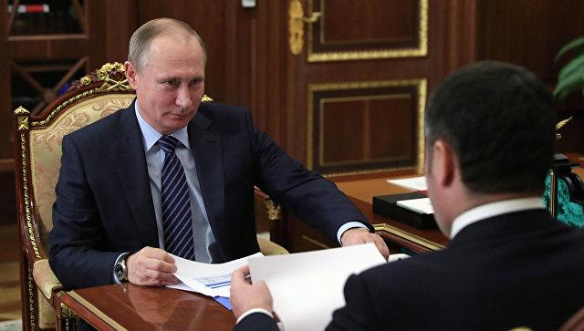 Игорь Руденя сказал Владимиру Путину осоциально-экономических показателях вТверской области
