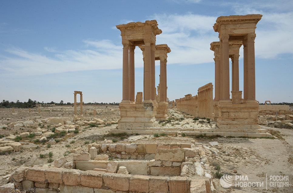 Разрушенные памятники Пальмиры