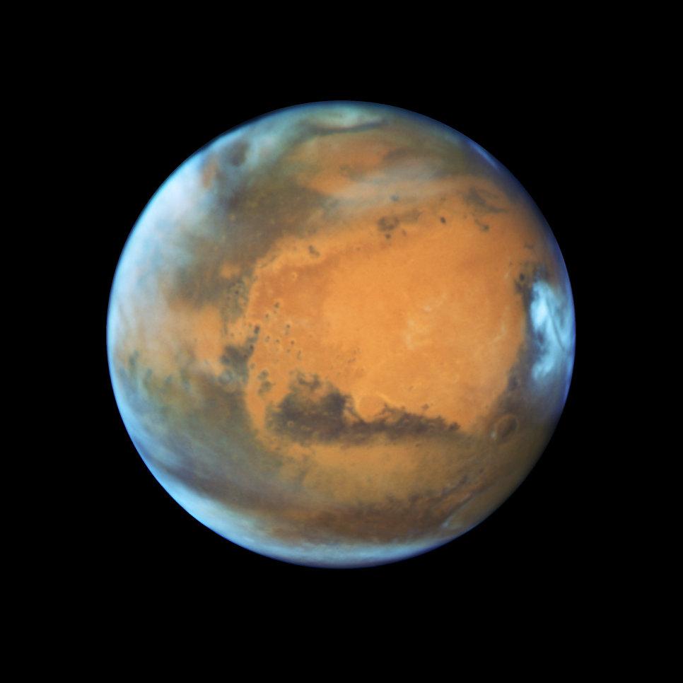 Фотография Марса, полученная Хабблом