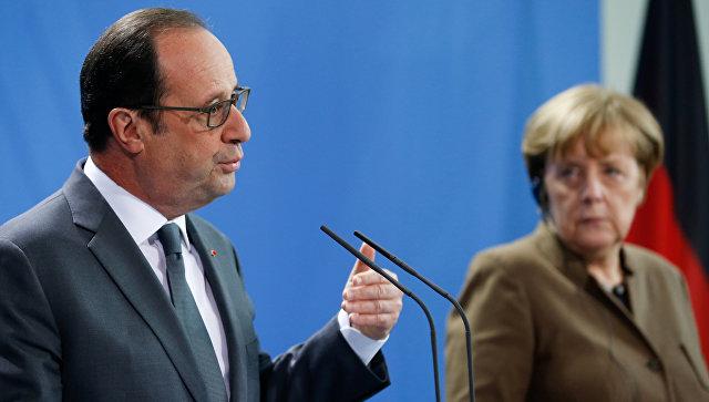 Олланд иМеркель выступили запродление санкций против Российской Федерации