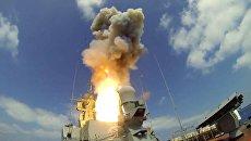 Пуск крылатых ракет Калибр по объектам Джебхат ан-Нусра в Сирии. Архивное фото