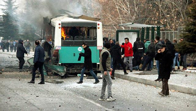 Взрыв автобуса втурецком Кайсери: ранены минимум 25 человек