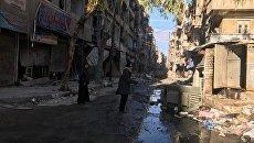 В освобожденных кварталах восточного Алеппо, Сирия