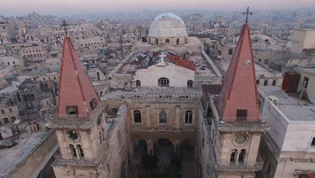С высоты птичьего полета: северная столица Сирии после изгнания боевиков