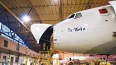 Техобслуживание самолетов Ту-154. Архивное фото