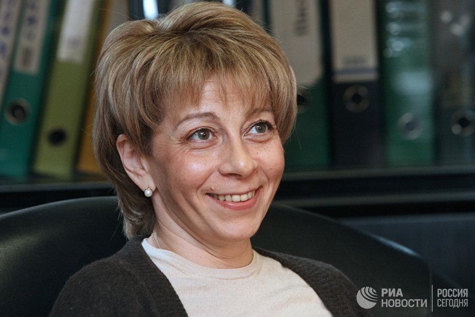 Исполнительный директор МОО Справедливая помощь Елизавета Глинка в офисе фонда