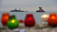 Поисково-спасательные работы у побережья Черного моря. Архивное фото