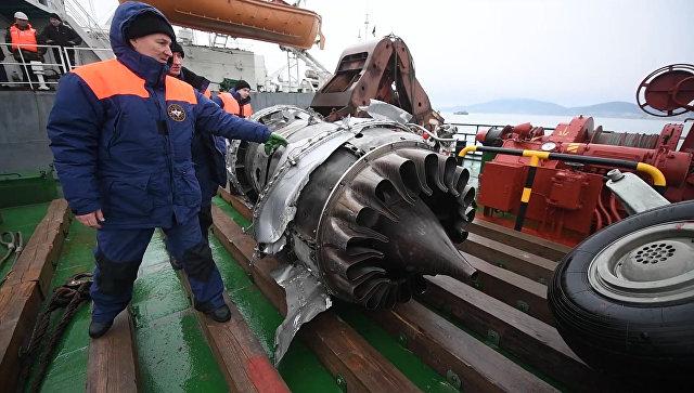 Наместе крушения Ту-154 вЧёрном море найдено семь фрагментов тел