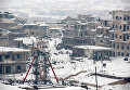 Заснеженная провинция Мааррет-эн-Нууман в Сирии