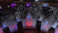 Кремль, Ласточкино гнездо и другие композиции фестиваля Ледовая Москва
